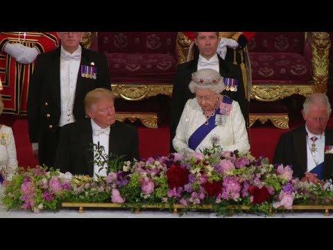 شاهد الرئيس الأمريكي يغفو أثناء كلمة الملكة اليزبيث
