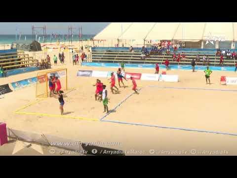 شاهد المنتخب المغربي يُتوّج بالميدالية البرونزية في كرة اليد