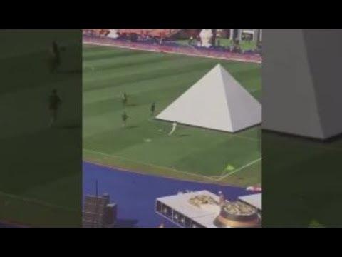 شاهد لحظة هروب الهرم قبل حفل افتتاح كأس أفريقيا