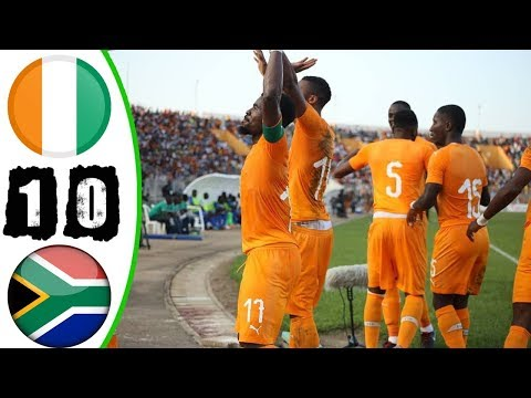 شاهد ملخص مباراة كوت ديفوار وجنوب أفريقيا