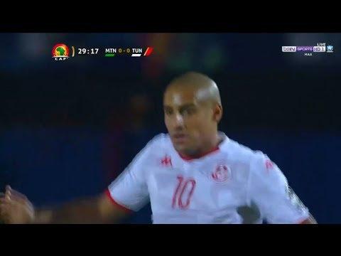 شاهد ملخص الشوط الأول من مباراة تونس ضد موريتانيا
