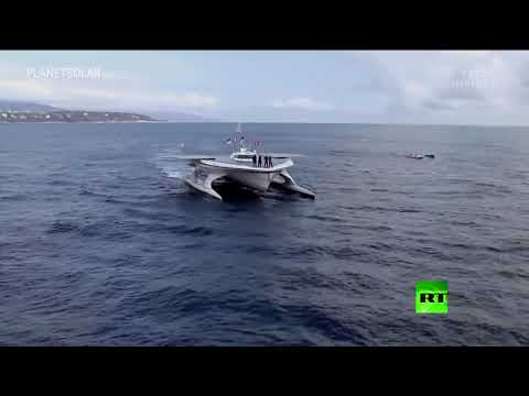 شاهد أكبر سفينة في العالم تعمل بالكامل بالطاقة الشمسية