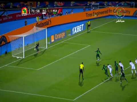 شاهد هدف التعادل للمنتخب النيجيري أمام الجزائر