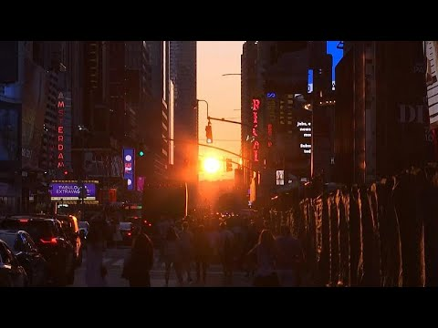 لقطات نادرة لغروب مميز لشمس مانهاتن