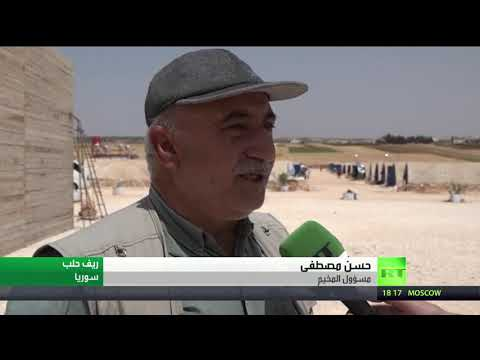شاهد عشرات العائلات السورية في مخيم العودة يطالبون بالعودة إلى قراهم