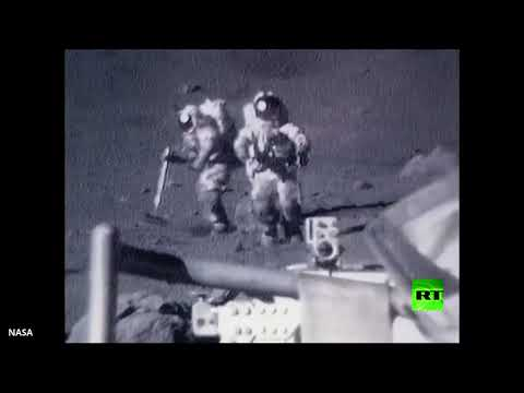 شاهد وكالة ناسا تنشُر لقطات طريفة لرواد فضاء على سطح القمر