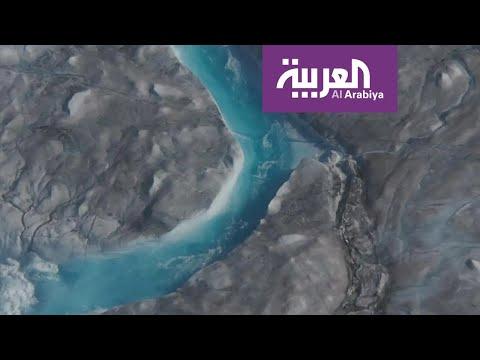 شاهد ذوبان 197 مليار طن من الجليد في جزيرة غرينلاد الأكبر في العالم