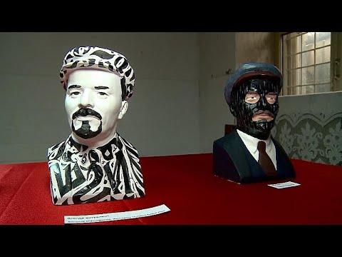 شاهد معرض روسي يحيي ذكرى الزعيم السوفييتي لينين بطريقة مبتكرة