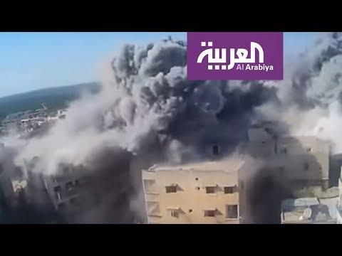 شاهد خان شيخون تحت النار والجيش السوري ينتزع مزارعها الشمالية