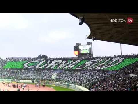 شاهد تيفو رائع لجماهير الرجاء في ملعب محمد الخامس