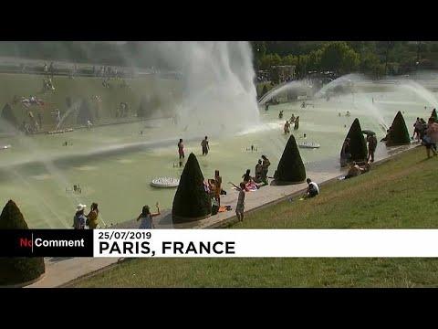 شاهد نوافير المياه ملاذ الأوروبيين من نار الصيف وسخونة الجو