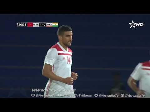 شاهد وليد الكرتي يسجل هدفًا للمنتخب المغربي ضد النيجر
