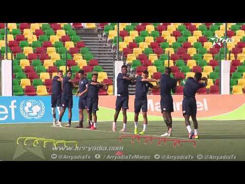 شاهد الوداد الرياضي ينهي استعداداته لمواجهة إف سي نواذيبو الموريتاني