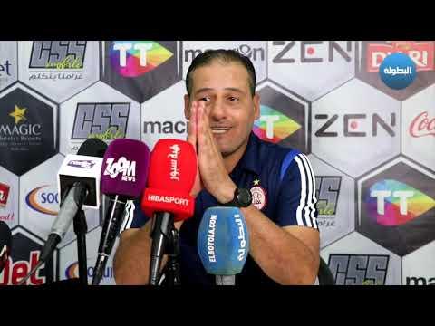 شاهد مدرب الاتحاد الليبي ينتقد حكم مباراة الحسنية ويعتبره دون المستوى