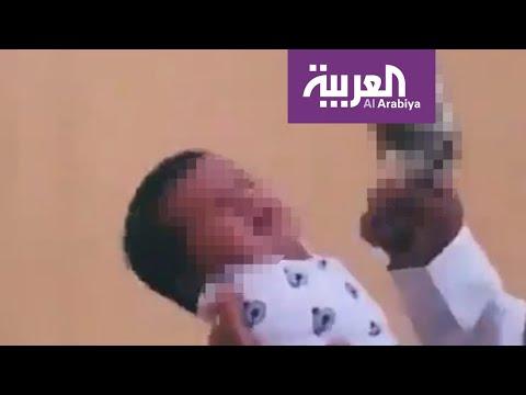 شاهد طريقة تعامل القانون السعودي مع مطلق النار بجوار الرضيع