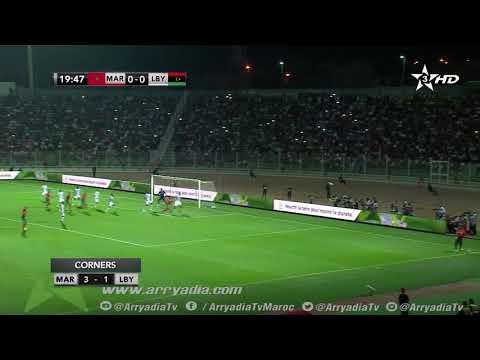 شاهد جواد الياميق يفتتح التسجيل للمنتخب المغربي أمام ليبيا