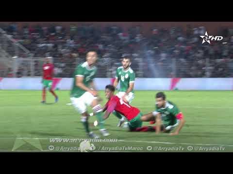 شاهد بدر بانون يسجل الهدف الأول للمنتخب المغربي ضد الجزائر