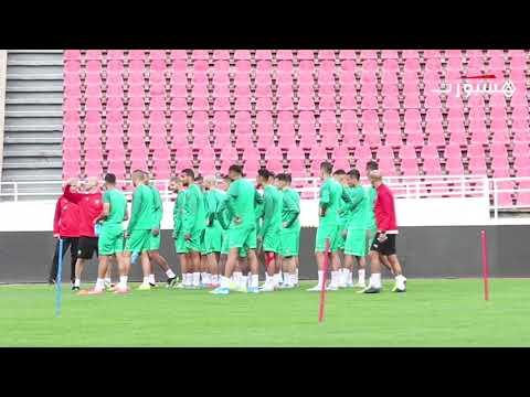 المنتخب المغربي ينهي استعداداته لمواجهة نظيره الموريتاني في الرباط