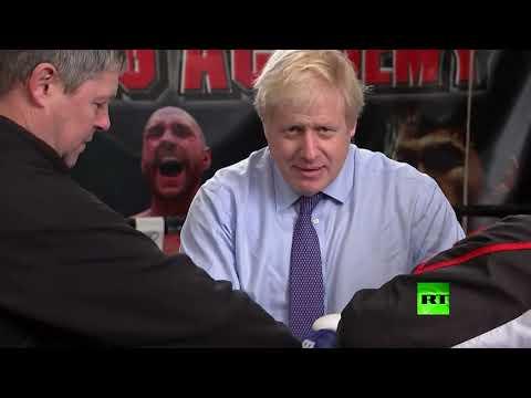 شاهد جونسون من حلبة السياسة إلى حلبة الملاكمة