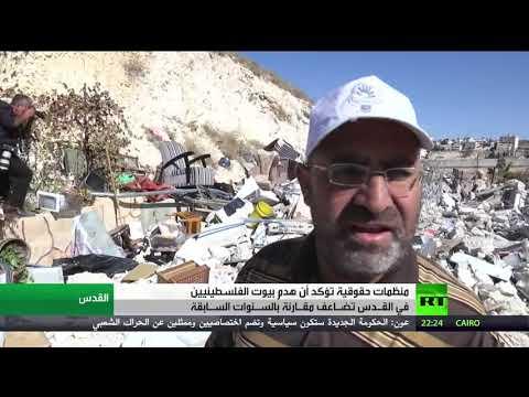 شاهد هدم منزلين في حي جبل المكبر في القدس