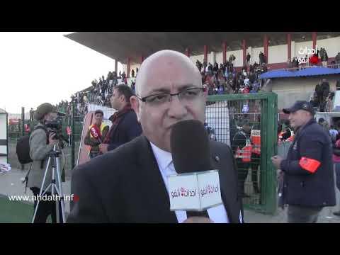 شاهد رئيس الاتحاد البيضاوي يحتفي بأول كأس عرش في تاريخ النادي