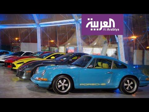 شاهد سعودي يشارك بسيارات من تصميمة في معرض الرياض