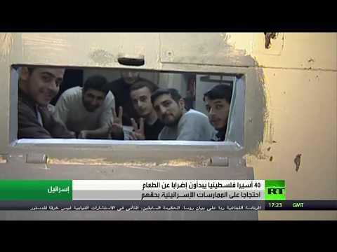 شاهد أربعون أسيرًا فلسطينيًا يضربون عن الطعام