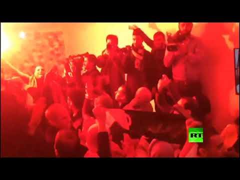 شاهد أنصار عبد المجيد تبون يحتفلون بفوزه في الانتخابات الرئاسية الجزائرية