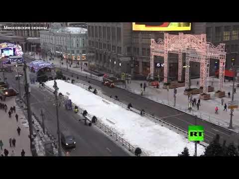شاهد كيف زيّنت موسكو شوارعها عشية العيد
