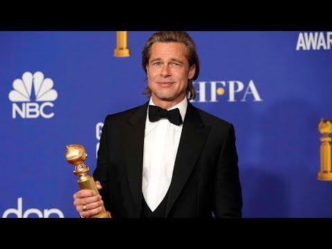 شاهد براد بيت يفوز بجائزة أفضل ممثل في غولدن غلوب 2020