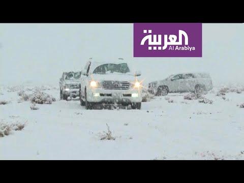 شاهد ثلوج تبوك وأمطار الإمارات تجتاح المواقع