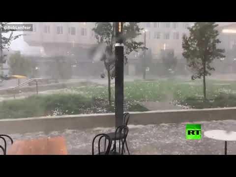 شاهد فيديو جديد يظهر قوة البرد والعاصفة التي ضربت أستراليا