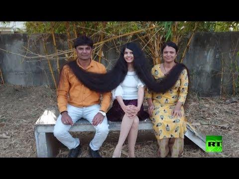 شاهد تعرف على صاحبة أطول شعر في العالم