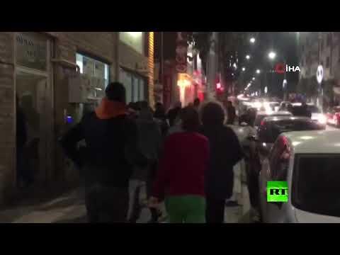 شاهد زلزال قوي يضرب تركيا ويصل إلى سورية والعراق