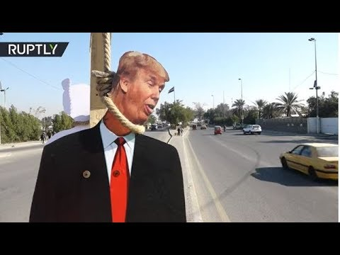 شاهد دمى دونالد ترامب في شوارع العراق