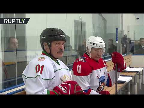 شاهد بوتين ولوكاشينكو في فريق واحد