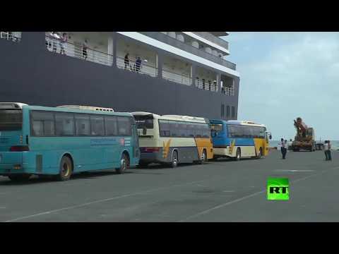 شاهد كمبوديا تستقبل ركاب سفينة سياحية طاردتها لعنة كورونا