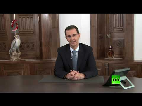 شاهدبشار الأسد يوجه التهنئة لأهالي حلب ويتعهد بمواصلة تحرير كامل الأراضي السورية