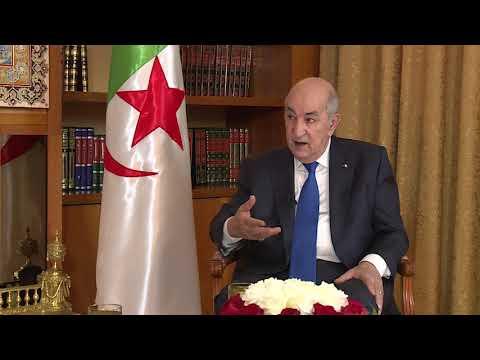شاهد الرئيس الجزائري يؤكّد أن الأولوية للدستور الجديد