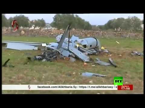شاهد الجيش السوري يسقط طائرة مسيرة للقوات التركية في ريف إدلب
