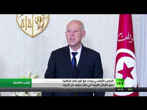 شاهد الرئيس التونسي يبحث مع أمير قطر إمكانية جمع القبائل الليبية