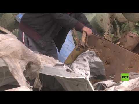 شاهد آثار الغارات الإسرائيلية على خان يونس في قطاع غزة