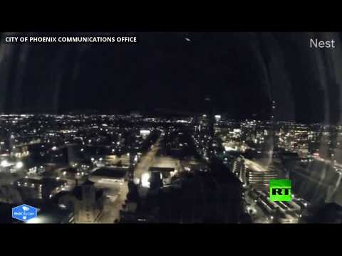 شاهد كاميرات تسجل لحظة سقوط نيزك في أريزونا