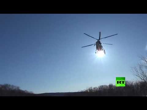 شاهد إنزال وحدة مكافحة التخريب بواسطة المروحية البحرية كا27 بي سي