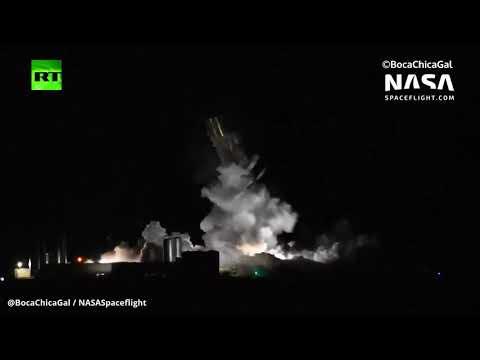 شاهد حظة انفجار نموذج للمركبة الفضائية سبايس اكس ستارشيب