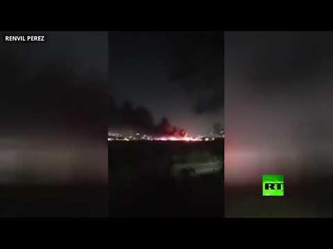 شاهد مقتل 8 اشخاص في انفجار على متن طائرة بالعاصمة الفلبينية مانيلا