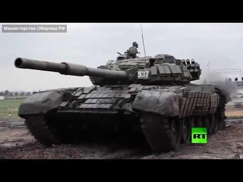 شاهد تدريبات الرماية لأقوى دبابات الجيش الروسي