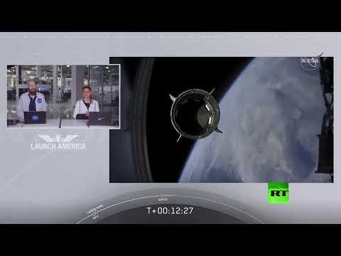 شاهد إطلاق ناجح لأول رحلة أميركية مأهولة إلى محطة الفضاء الدولية ر