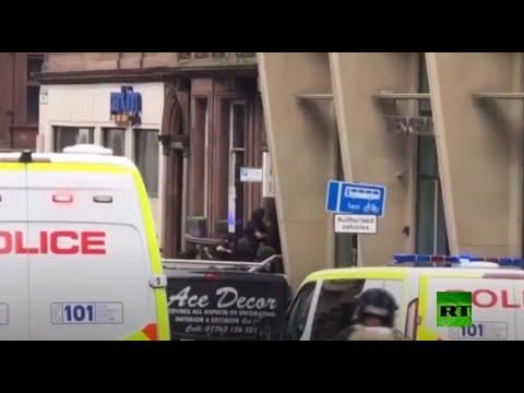 شاهد سقوط قتلى وجرحى في عملية طعن بمدينة غلاسكو الإسكتلندية