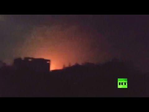 شاهد مروحيات إسرائيل تستهدف الفلسطينيين في غزة بصاروخين